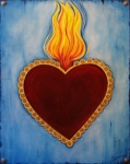 Hearts Paintings - Milagro by Sabina Espinet