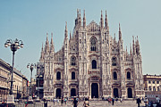 Symmetrical Framed Prints - Milan Cathedral Framed Print by Benjamin Matthijs