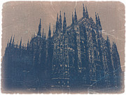 European Capital Digital Art Metal Prints - Milan Cathedral Metal Print by Irina  March