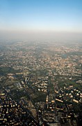 Hazy Horizon Framed Prints - Milan, Italy, Aerial Photograph Framed Print by Carlos Dominguez