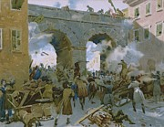 Soldier Paintings - Milanese chasing out Austrians by Italian School