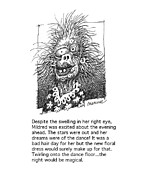 Humorous Greeting Cards Drawings Metal Prints - Mildred Metal Print by Curtis Chapline