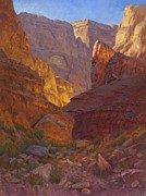 Canyon Painting Posters - Mile 202 Canyon - Grand Canyon Poster by Cody DeLong