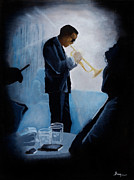 Trumpet Paintings - Mile Davis - Kind Of Blue by Brien Cole