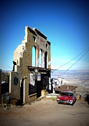 Reminiscing Prints - Mile High Jerome Arizona Print by Cindy Wright
