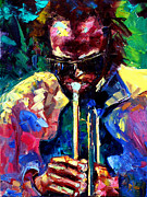 Jazz Paintings - Miles and Yellow by Debra Hurd