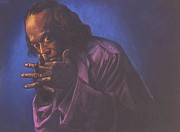 Hands Pastels Prints - Miles Davis Print by Curtis James