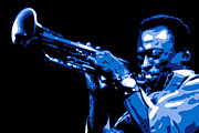 Jazz Digital Art Posters - Miles Davis Poster by Dean Caminiti