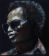 Musicians Pastels Posters - Miles Davis Poster by Frances Marino