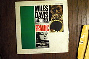 Album Framed Prints - Miles Davis Frantic Framed Print by Mauricio Jimenez