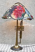 Concert Mixed Media Originals - Miles Davis Lamp 4 by Greg Gierlowski