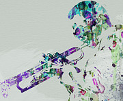 Jazz Metal Prints - Miles Davis Metal Print by Irina  March