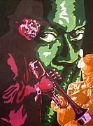 Miles Davis Painting Originals - Miles Davis by Ronald Young