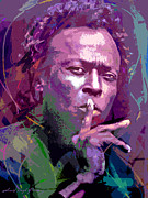 Miles Davis Silence Print by David Lloyd Glover