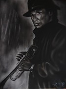 Jazz-stars Framed Prints - Miles Davis Framed Print by Terrence ONeal