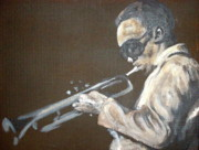 Trumpet Painting Originals - Miles I by Pete Maier