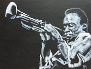 Trumpet Painting Originals - Miles II by Pete Maier