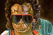 Miles Davis Painting Originals - Miles by Inaki Massini Pontis