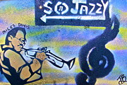 Jazz Painting Originals - Miles of Jazz by Tony B Conscious