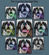 Boxer Dog Digital Art Metal Prints - Miles of Smiles Metal Print by DigiArt Diaries by Vicky Browning