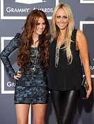 Miley Cyrus, Mom, Tish Cyrus Print by Everett