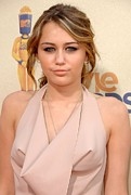 Gibson Amphitheatre At Universal Citywalk Posters - Miley Cyrus Wearing A Moschino Cheap & Poster by Everett