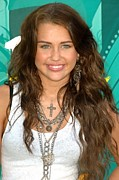 Chain Necklace Art - Miley Cyrus Wearing  Jewelry By Loree by Everett