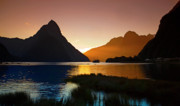 Milford And Mitre Peak At Sunset Print by Odille Esmonde-Morgan