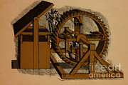 Military Artwork Prints - Military Engine By Leonardo Da Vinci Print by Science Source