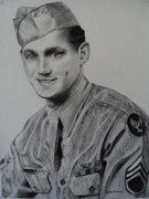 Military Hero Drawings - Military Heroes by Carla Carson