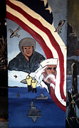 Toy Shop Framed Prints - Military Mural Framed Print by Doug  Duffey