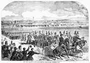 Militia Review, 1859 Print by Granger