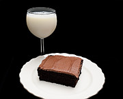 Food Photos - Milk And Chocolate Cake by Andee Photography