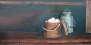 Jug Painting Originals - Milk and Eggs by Charles Roy Smith