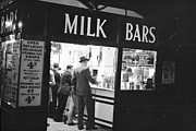 Night Cafe Posters - Milk Bar Poster by Felix Man