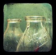 Ttv Prints - Milk Bottles Print by Dana DiPasquale