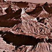 Milk Chocolate Mountains Print by Nadine and Bob Johnston