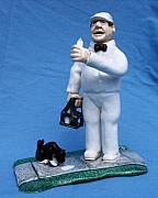Small Statue Ceramics - Milk Man by Bob Dann