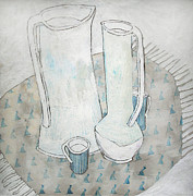 Milk Drawings - Milk morning by Evgeniya Zueva