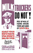Milk Trucker Fda Warning  Print by War Is Hell Store