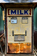 Vending Machine Photo Framed Prints - Milk vending machine Framed Print by Paul Ward