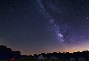 Milky Way And Perseid Meteor Shower Print by John Davis