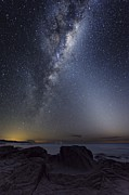 Moonlit Night Prints - Milky Way Over Cape Otway, Australia Print by Alex Cherney, Terrastro.com