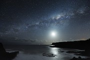 Moonlit Art - Milky Way Over Mornington Peninsula by Alex Cherney, Terrastro.com