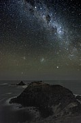 Moonlit Night Photo Metal Prints - Milky Way Over Phillip Island, Australia Metal Print by Alex Cherney, Terrastro.com