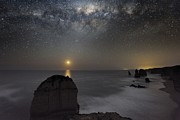 Moonlit Night Photo Prints - Milky Way Over Shipwreck Coast Print by Alex Cherney, Terrastro.com