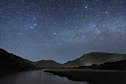 Moonlit Night Photo Metal Prints - Milky Way Over Wilsons Promontory Metal Print by Alex Cherney, Terrastro.com