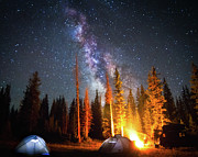 Tent Framed Prints - Milky Way Framed Print by William Church - Summit42.com
