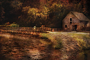 Flour Prints - Mill - The Village Edge Print by Mike Savad