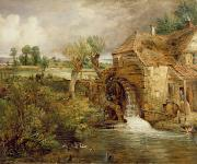 Mill Framed Prints - Mill at Gillingham - Dorset Framed Print by John Constable